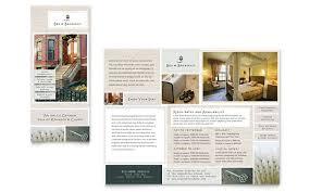 Microsoft Office Tri Fold Brochure Template Bed And Breakfast Brochure Template Tadlifecare Com