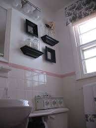 Upstairs bathroom\u003d Pink and Black Beauty   Black accents, 1950s ...