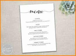Free Menu Templates For Microsoft Word Free Restaurant Menu