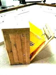 decorative outdoor garbage bins wooden trash bin can holder kitchen plans tras