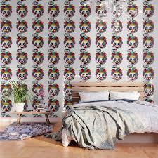 clown panda joker makeup on a cute panda light wallpaper