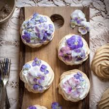 preparing edible flowers cand viola mini pavlovas creamy rose popsicles