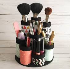 DIY Makeup Organizer. Made from recycled paper towel tubes. Perfect for  makeup brushes and