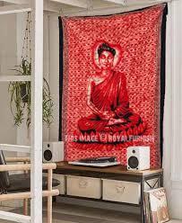 red colorful buddha buddhist batik