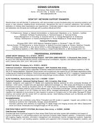 Technical Support Resume Format Fors Specialist Examples Engineer