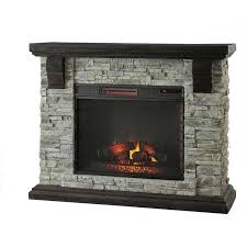 highland 50 in faux stone mantel electric fireplace in gray mantel electric fireplace dimplex featherston electric