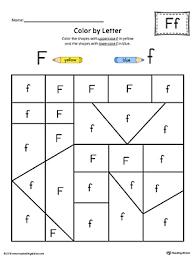 Uppercase Letter F Color by Letter Worksheet