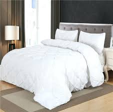 twin flannel duvet cover set black white luxury pinch pleat 2 queen king size bedclothes bedding