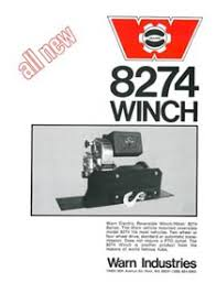 industries the history of the m winch the m8274 is probably the best known and most recognized winch industries makes introduced in 1974 it replaced the original belleview winch that