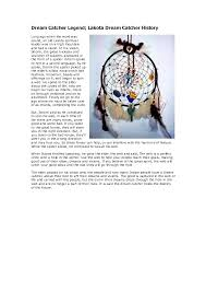 The History Of Dream Catchers lakota dream catcher legend Dream Catcher Legend Lakota Dream 2