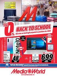 Volantino Media World - Back to school - settembre 2019 a partire dal  29/08/2019 e fino al 11/09/2019