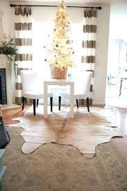 appealing ikea cowhide rug in patchwork black metallic living room
