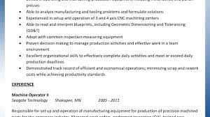 Grinder Sample Resumes Resume Warehouse Machine Operator Samples Printing Sample Machinist 18
