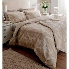 ombre damask cream beige cotton duvet cover set