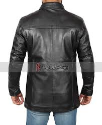 long leather jacket mens