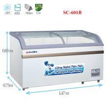 Tủ đông kính cong Alaska SC-601B 600 lít | Điện Lạnh Nguyễn Khánh