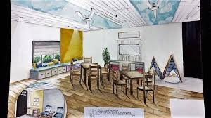 social room sketch at cea orphanage by christine roldan