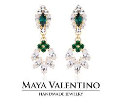 bridal chandelier earring bridal earring big earring emerald earring 14k gold earring