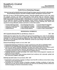 marketing and sales cv marketing resume format template 7 free word pdf format download