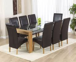 exclusive ideas wood and gl dining table 26