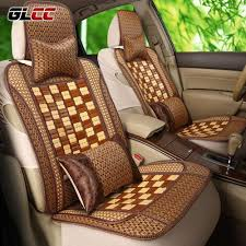glcc summer new arrival car bamboo seat covers cool relieve fatigue universal 5 seat auto covers set car seat protector high quality car seat pro china seat