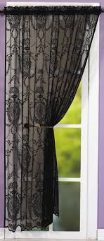 black lace curtains holly black lace panel net curtain 2 curtains
