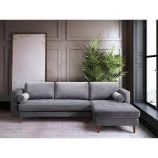 gray velvet sectional.  Sectional Como Grey Velvet Sectional And Gray D