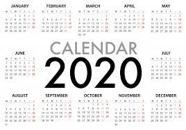 Photoshop Calendar Template 2020 Calendar Vectors Photos And Psd Files Free Download
