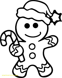 Blank Gingerbread Man Coloring Page The Pages 12