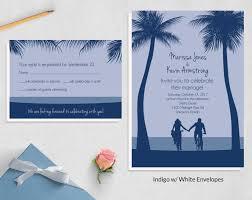 Beach Invitation Beach Wedding Invitation Sets Bikes Invites Wild Blue