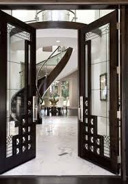 modern wooden doors with glass