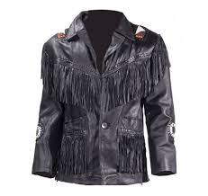 men s western style jacket with fringes