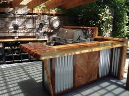 rustic outdoor kitchen and bar