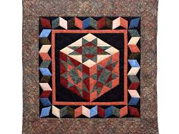 Evening Star Cube Quilt -- outstanding cleverly made Amish Quilts ... & Batik Evening Star Cube Wall Hanging Photo 1 ... Adamdwight.com