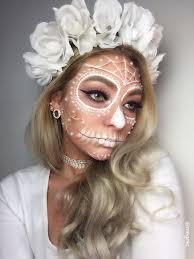 white sugar skull makeup