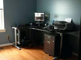 best computer desk ikea besta black brown