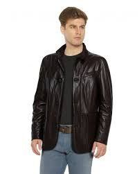 black leather coat with flap patch pockets front 2 e1449038974449