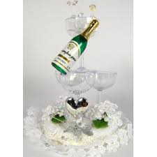 Champagne Bottle Cake Decoration Wedding Cake Toppers FREE DELIVERY ON ALL ORDERS 3