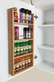 Spice Racks For Kitchen 4 Tier Solid Oak Spice Rack Kitchen Back Of Door Side Of