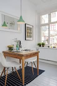 scandinavian kitchen with mid century lighting