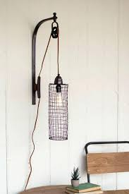 wall sconces with cords sconce model caged thin wire on pulley plugin creative lighted cord