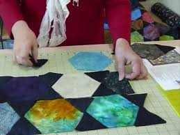 How to make a Charming Hexagon Quilt by machine - Quilting Tips ... & How to make a Charming Hexagon Quilt by machine - Quilting Tips &  Techniques 078 Adamdwight.com