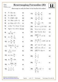 rearranging maths worksheet rearranging answer rearranging example