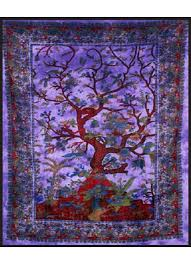 tree of life purple double tapestry