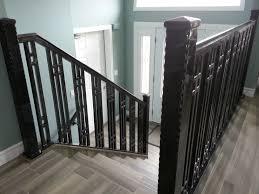 steel stair railing. Metal Fabrication Windsor Ontario Sunset Fab Custom Stair Rails Steel Railing