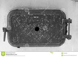 Vintage Cast Iron Boiler Door Stock Image - Image of vintage, iron ...