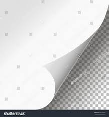 stylish page curled page corner isolated background stylish stock vector