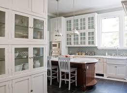 blue glass kitchen backsplash