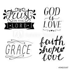 Set Of 40 Hand Lettering Christian Quotes God Is Love Faith Hope New Love Faith Hope Quotes