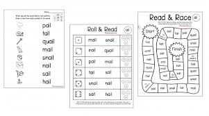 Phonics teaches a student to read by using the sounds of the letters in a word. Long Vowel Word Family Mats Games The Measured Mom